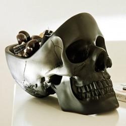 Totenkopf Schale schwarz