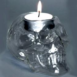 Totenkopf Teelichthalter