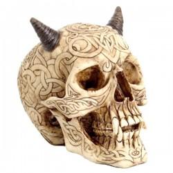 Totenkopf mit Hörner