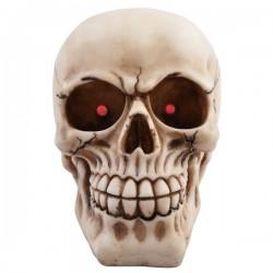 Totenkopf mit blinkenden LED Augen