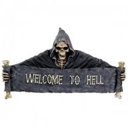 Türschild Welcome to Hell