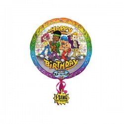 Singender Ballon - Happy Birthday Rockig