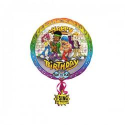 Singender Ballon - Happy Birthday Rockig