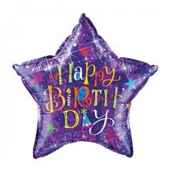 Ballon Happy Birthday Stern 91cm
