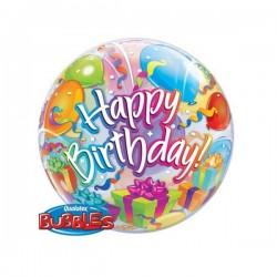 Ballon Happy Birthday mit Geschenken
