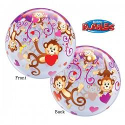 Ballon Affen mit Herzen