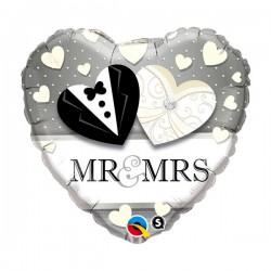Ballon Herz Mr&Mrs