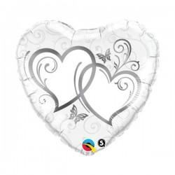Ballonherz mit Herzen