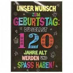 """Musikkarte mit Überraschung """"120 Jahre alt werden"""""""