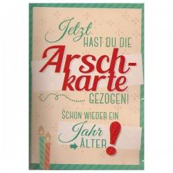 """Musikkarte mit Überraschung """"Arsch-Karte"""""""
