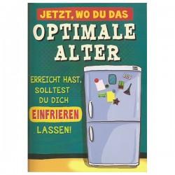 """Musikkarte mit Überraschung """"Optimales Alter Einfrieren"""""""