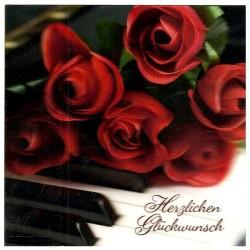 """3D Klappkarten """"Herzlichen Glückwunsch Rosen"""""""