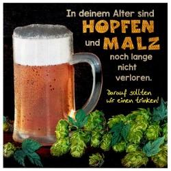 """Stahlglanz Karte """"Hopfen und Malz"""""""
