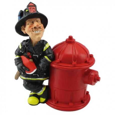 Kasse Feuerwehrmann und Hydrant