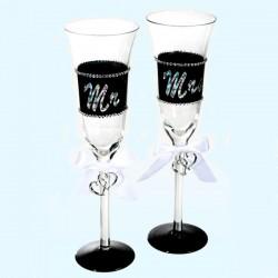 Sektglas Mr. und Mrs.