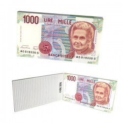 Notizblock 1000 Lire-Note