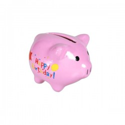 Mini Sparschwein Happy Birthday