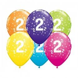 Ballon Zahl 2