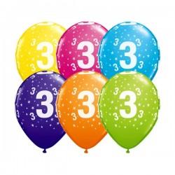 Ballon Zahl 3