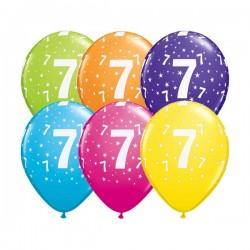 Ballon Zahl 7