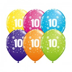 Ballon Zahl 10