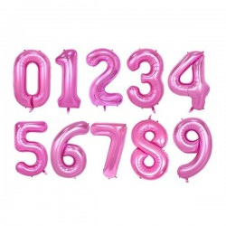 Zahlenballons pink