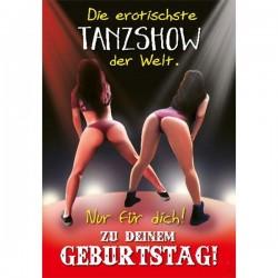 """Musikkarte mit Überraschung """"Die erotischste Tanzshow"""""""