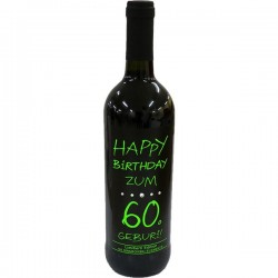 Swarovski Wein Happy Birthday zum 60