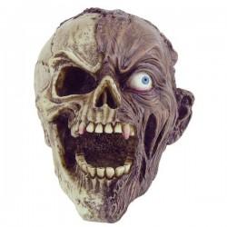 Zombie-Totenkopf halb-halb