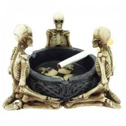 Aschenbecher mit 3 Skeletten