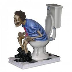 Skelett auf WC