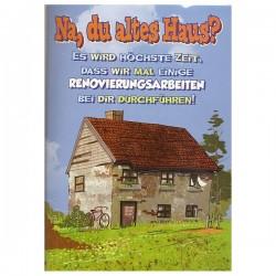 """Musikkarte mit Überraschung """"Altes Haus"""""""