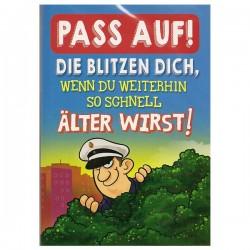 """Musikkarte mit Überraschung """"Pass auf Blitz"""""""