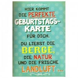 """Musikkarte mit Überraschung """"Berge Landluft"""""""