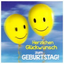 """3D Klappkarten """"Herzlicher Glückwunsch Ballons"""""""