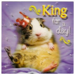 """3D Klappkarten """"King for a day"""""""