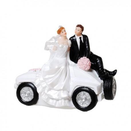 Kasse Brautpaar auf Auto