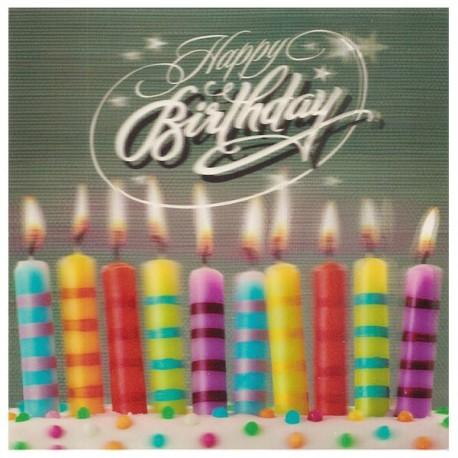 """3D Klappkarten """"Happy Birthday Kerzen"""""""