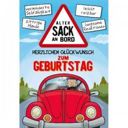 """Musikkarte mit Überraschung """"Alter Sack"""""""