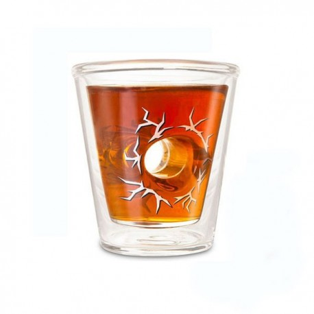 Shot Glas - Durchschuss