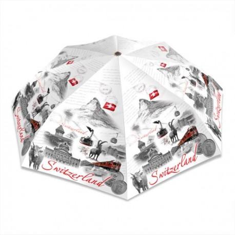 Regenschirm Switzerland weiss