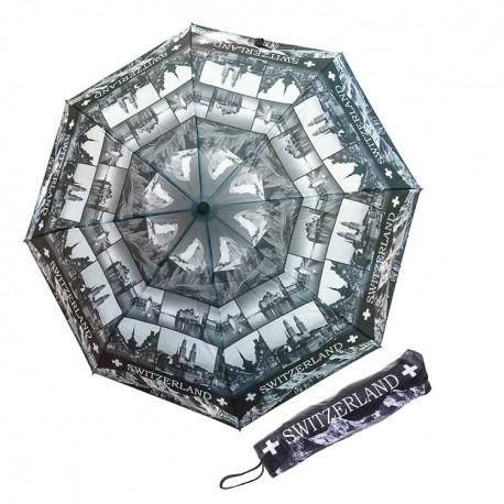 Regenschirm Switzerland schwarz